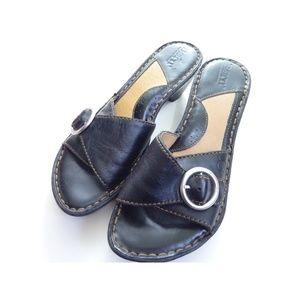 Born 7 Slip On Sandal Heels